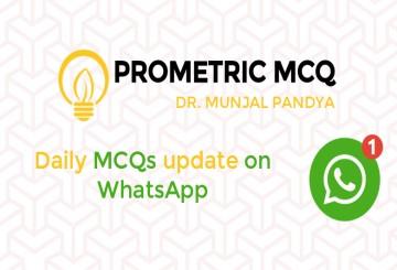 Prometric MCQ WhatsApp daily - 01 Month